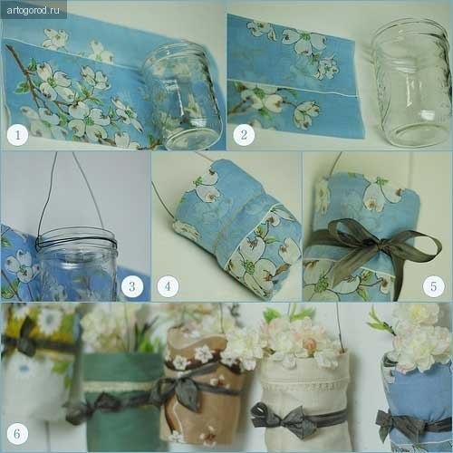 Сделать своими руками вазу для цветов