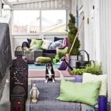 Зеленый и фиолетовый: Веранда в деталях