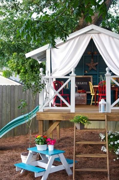 Дети на даче: места для игр. Готовые решения на любой бюджет и
