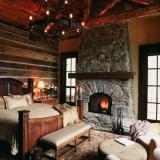 Дом в штате Монтана от студии Miller Architects: дерево и камень
