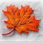 Бумажная осень: Квиллинг — осенний кленовый листок своими руками