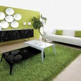 Декоративный уголок природы с травой и деревьями: 6 идей для зеленой гостиной