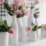 Все гениальное просто: 12 идей для богемных ваз из обычных бутылок