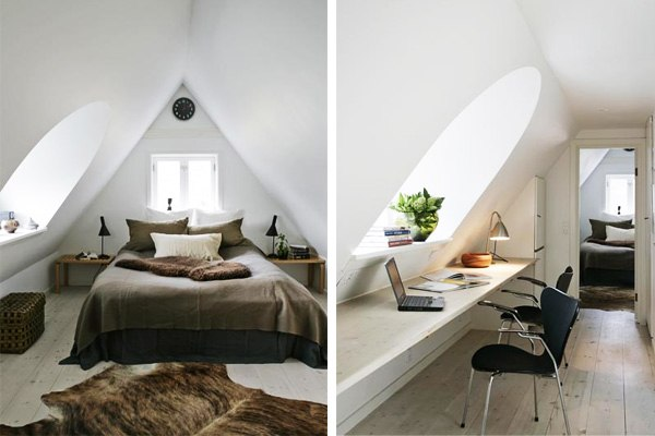 Дизайн комнаты на чердаке фото
