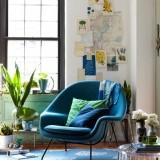 Яркое место для отдыха: цветные кресла, диваны, пуфики и стулья в совремнных интерьерах: 24 фотоидеи