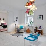 Светлая уютная шведская квартира и ее веселый очаровательный декор