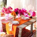 Как правильно сочетать цвета: идеи использования оранжевого и розового цвета в ярком весеннем или летнем интерьер