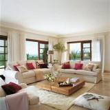 Визуальное увеличение пространство: идеи для светлой гостиной в пастельных тонах