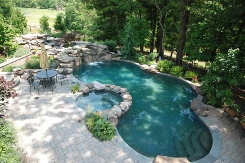 Дизайн бассейна во дворе фото