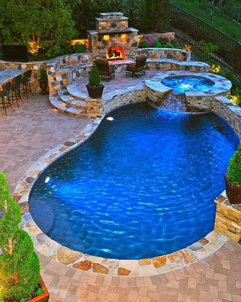 Фото бассейна на улице