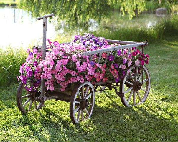 Деревянная тележка для цветов. Мастер-класс - Построй сам