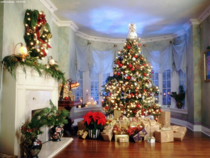 Фото украшение дома на новый год 2015 своими руками