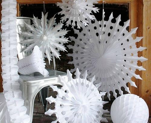 Новогоднее украшение снежинка своими руками