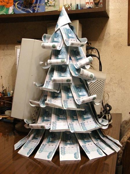 Креативная елка из бумаги