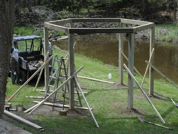 Доробляємо конструкцію для гойдалок