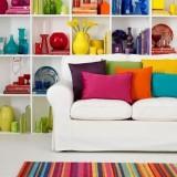 Разноцветные идеи: яркие краски в интерьере и экстерьере дома, цветные детали и радуга в вашем саду
