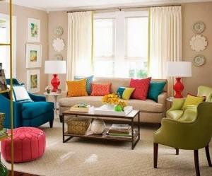 Разноцветный интерьер квартиры: радуга в доме