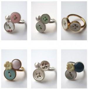 Оригинальные кольца из пуговиц своими руками