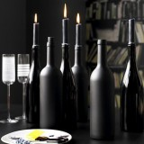 Вторая жизнь винным бутылкам: делаем стеклянные подсвечники своими руками