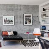 Бетонные стены в интерьере: современный стиль лофт — простое исполнение