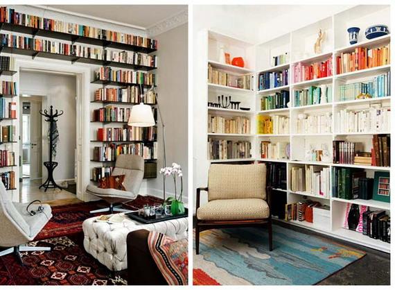 Где разместить дома библиотеку и идеи для ее интерьера