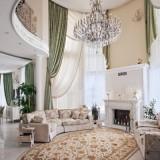 Шикарная квартира в Подмосковье в белых, бежевых и кремовых тонах
