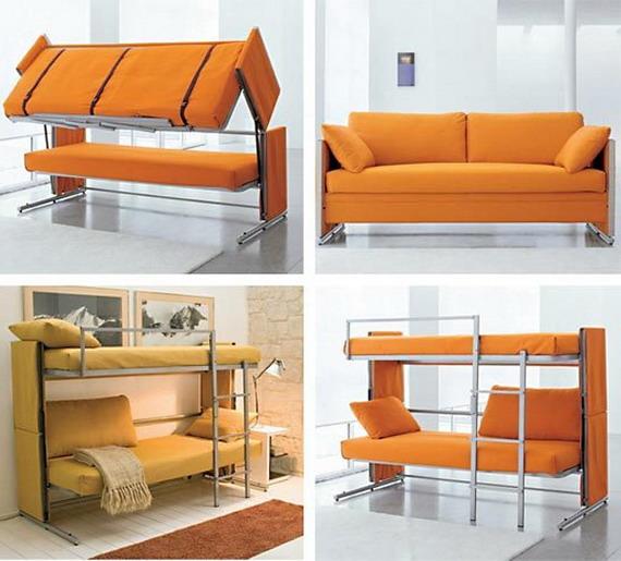Мебель для небольшой квартиры: диван транформер - двухэтажная кровать