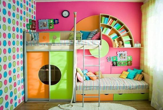 Компактная мебель для небольшой детской комнаты