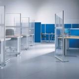 Как выглядят офисные перегородки из алюминиевого профиля