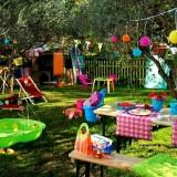 Место для детских игр в саду своими руками