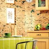 Пробковые покрытия в интерьере: пол и стены
