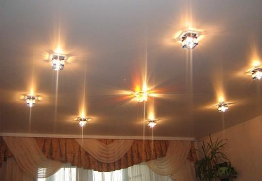 вашего как разместить светильники на потолке натяжном систематизирован