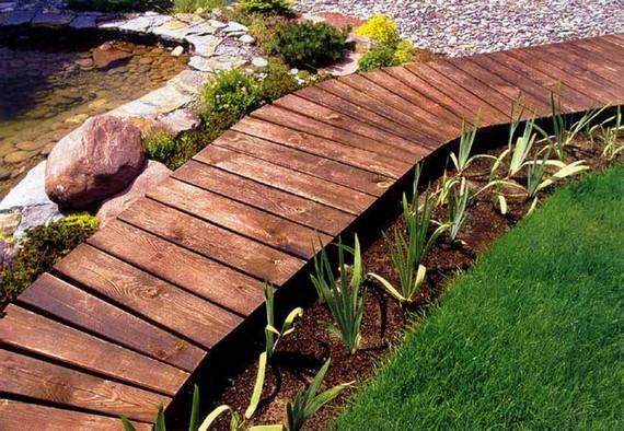 Как на даче сделать деревянные дорожки