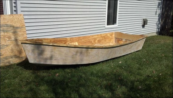лодка из досок и фанеры