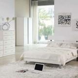 Интерьеры спален в белом цвете