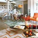 Осенний интерьер квартиры с яркими акцентами
