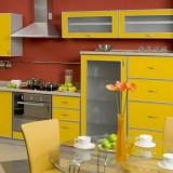Идеи для интерьера солнечно-желтой кухни