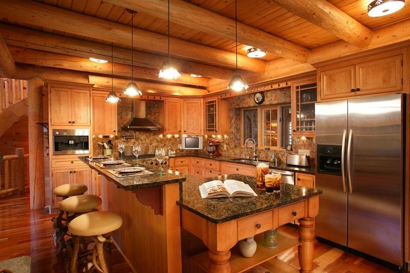 Фото дизайн отделки деревянного дома внутри
