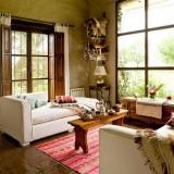 Домашний интерьер уютного отеля в Аргентине