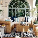 Идеи плетеной мебели для дачной веранды