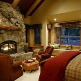 Тепло в доме: Камин в спальне — идеи оформления