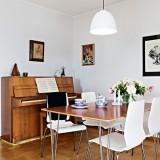 Интерьер просторной квартиры в Швеции в Гетеборге