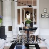 Черно-белая квартира в центре Стокгольма