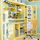 Необычная идея: рабочее место в шкафу