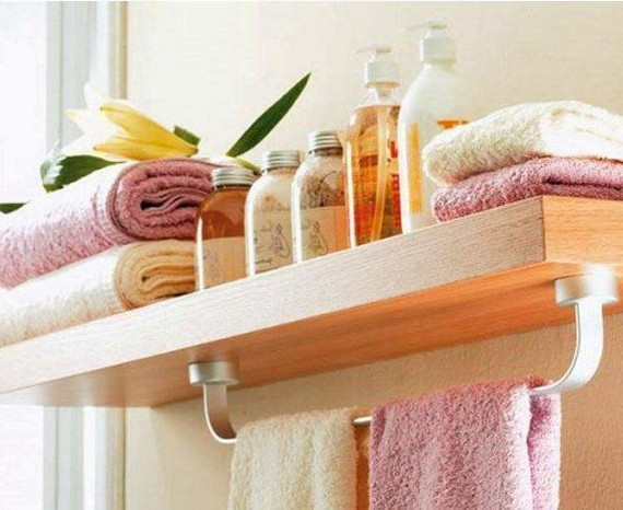 Small bathroom towel rack ideas