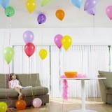 Украшение гостиной ко дню рожденья