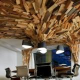 Бизнес эко-стиль: дерево в офисных интерьерах