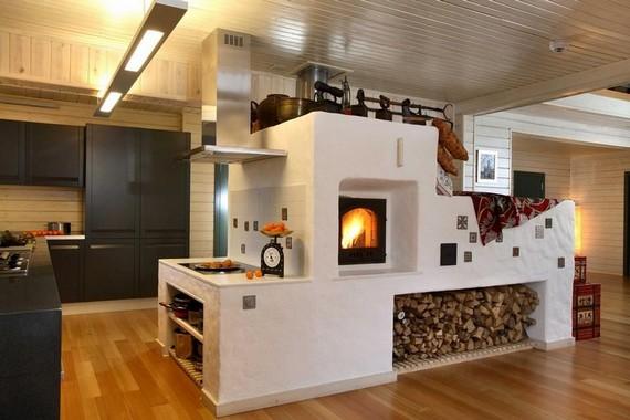 Дизайн печи частном доме фото