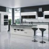 Монохром в доме: идеи для черно-белой кухни