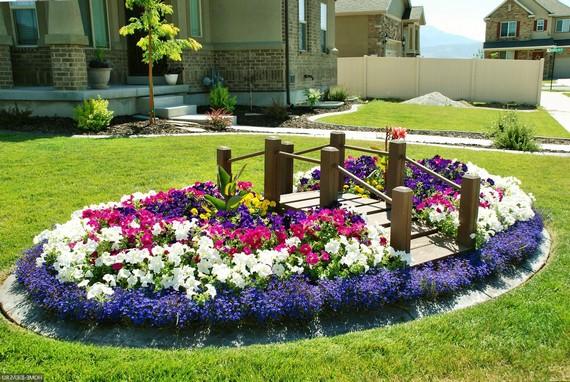 Дизайн цветочных клумб фото